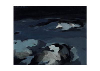 nº 32 San Vicente del Mar 3. 1974 Óleo sobre lienzo 65x80 cm.